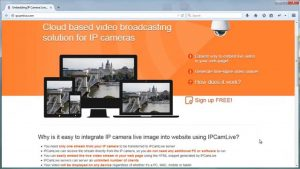 How to embed IP camera live stream into web page - YouTube