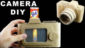 How To Make Camera With Real Functional Screen From Cardboard | King Of  Crafts - YouTube