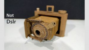 How to make A NOT Dslr Camera from Cardboard - YouTube