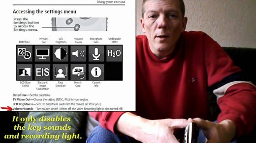 Playsport: how to switch off the recording light - YouTube