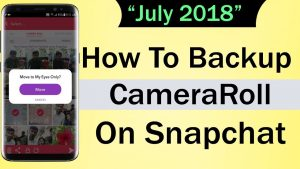 How To Backup Camera Roll on Snapchat - YouTube