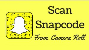 How To Scan A Snapcode Saved To Your Camera Roll - YouTube
