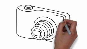 How to Draw a Camera Step by Step|| Digital Camera - YouTube