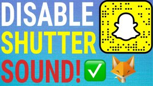How To Turn Off Snapchat Shutter Sound - YouTube