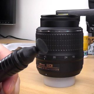 How to clean your DSLR camera lens Tutorial - YouTube
