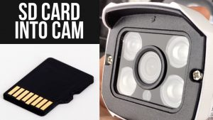 How to Insert Micro SD Card / TF card into 1080P HD Wireless CCTV Bullet  WIFI audio Outdoor Camera - YouTube