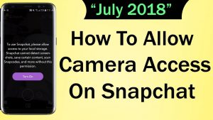 How To Allow Camera Access On Snapchat - YouTube