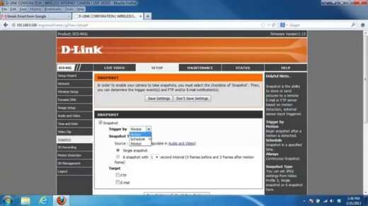 How to enable e-mail notifications on a Mydlink camera - YouTube