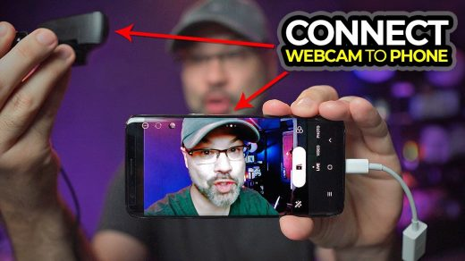 How to connect phone to webcam - Android webcam USB - YouTube