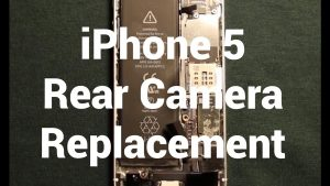 iPhone 5 Rear Camera Replacement How To Change - YouTube