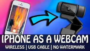 How to Use IPhone as a Webcam Using USB Cable & WIFI | No Watermark 2021 -  YouTube