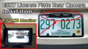 How To Install Rear License Plate Camera System - YouTube