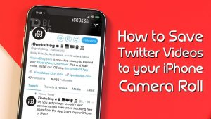 How to Download Twitter Videos to iPhone Camera Roll (Without Jailbreak) -  YouTube