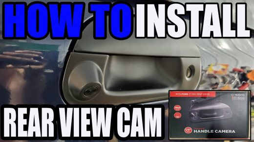 HOW TO INSTALL REAR VIEW CAMERA - FORD F250 REAR TAILGATE HANDLE - YouTube