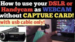 Is it possible to use the camcorder as a WEB-cam • BYRGPUB.COM
