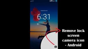 How to remove camera icon from lock screen - Android - YouTube