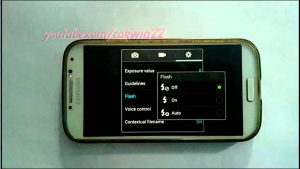 Samsung Galaxy S4 : How to turn on or turn off flash camera - YouTube