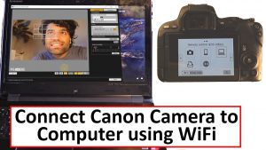 how to connect Canon camera to Computer using WiFi - YouTube