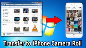How to transfer photos/videos from computer to iphone camera roll - YouTube