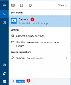 4 Ways to Open the Camera App in Windows 10   Password Recovery