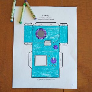 Printable Camera Papercraft - Create in the Chaos