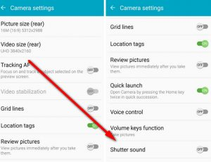 How to DEFINITELY turn off the annoying Samsung Galaxy S6 and S6 Edge camera  shutter noise – wirefresh