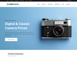Digital Camera Comparison theme for WordPress - Try now!