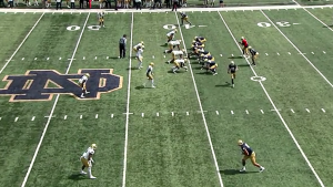 A new view here to stay at Notre Dame: The sideline Skycam - Inside the  Irish | NBC Sports