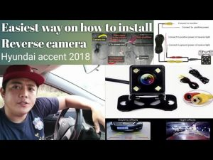 hyundai The easiest way on how to install reverse camera / hyundai accent  2018 / - YouTube