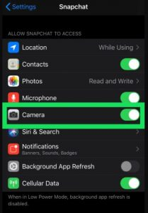 How to Allow Camera Access on Snapchat iPhone/Android