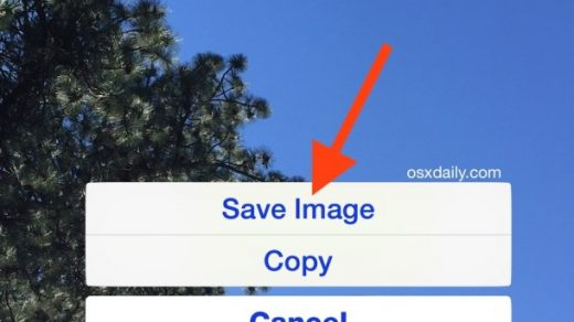 How to Save Images from Safari or Mail Onto the iPad & iPhone | OSXDaily