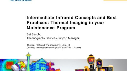 Thermal Imaging in your Maintenance Program: Intermediate Infrared Co…
