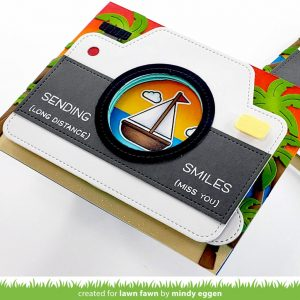 Tropical Scene with Magic Iris Camera from Lawn Fawn