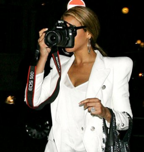 what camera (DSLR) does Beyoncé use for her...