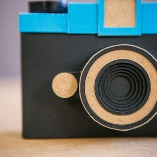 This Diana Shaped Pinhole Camera is Made from Cardboard