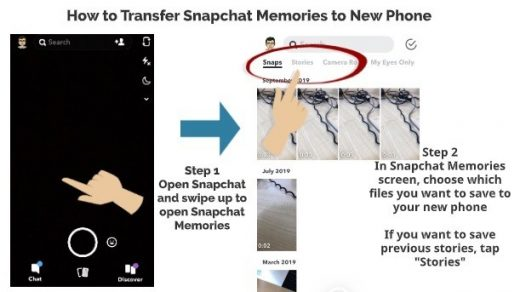 How to Transfer Snapchat Memories to New Phone – My Media Social