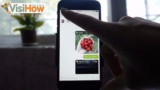 Send Photos from Camera and Camera Roll on Kik on iPhone 6 - VisiHow