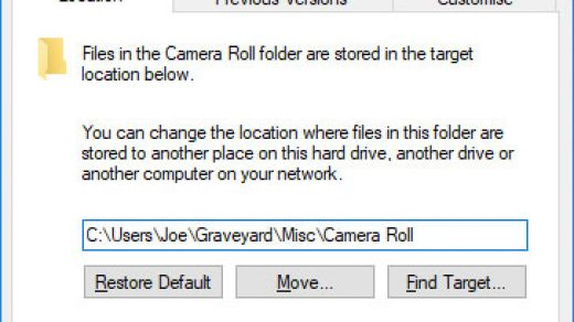 How to delete Camera Roll and Saved Pictures folders in Windows 10
