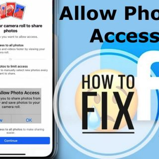 How to set permission on Facebook   fix Camera roll display on featured  photo  Facebook app - YouTube