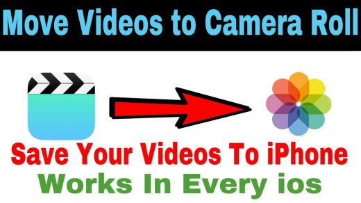 How to Move/Save Videos From iphone Video APPLICATION To Camera Roll -  YouTube