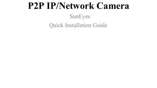 SunEyes T Series Quick Installation Guide