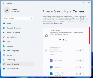 How to Disable Camera in Windows 11 • Website for Students
